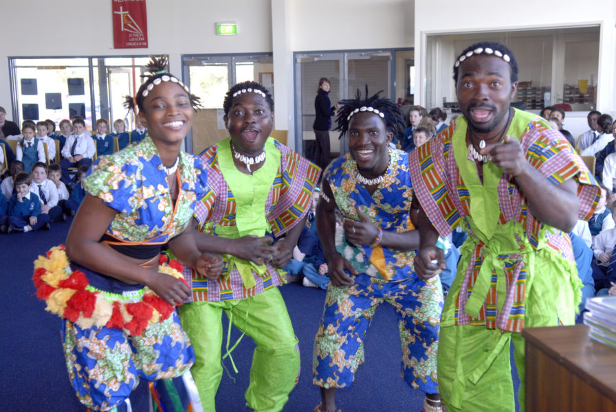 Salaka Interactive Drumming Touring Show Delights Australian Students
