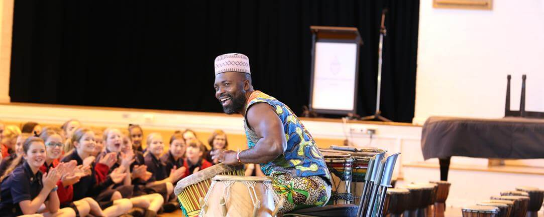 Tuza is a master drummer from Africa